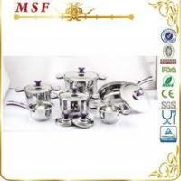 MSF Surgical 12pcs Stainless Steel Cookware With Color Silicon On Handle & Knob MSF-3829