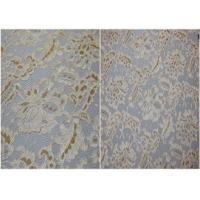 China Underwear Stretchy Metallic Lace Fabric / Corded Jacquard Lace Fabric on sale