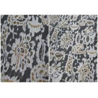 Buy cheap Colored Stretch Flower Metallic Lace Fabric , Scalloped Edge Lace Fabric product