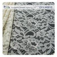 Nylon Viscose Corded Lace Fabric For Clothing 145CM - 150 CM Width CY-LW0015