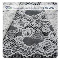 China Black Dress Corded Chantilly Lace Fabric / Embroidered Lace Fabric on sale