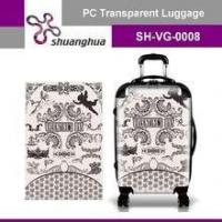summer holiday&travelling transparent pc customized suitcase