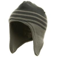 China Ear Cover Beanie-Light Grey wholesale