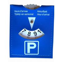 Buy cheap ParkingDiscs Product namePVC leather parking disks for Netherland market from wholesalers