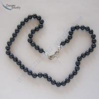 Buy cheap Midnight blue glass pearl choker product