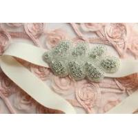 Buy cheap Crystal stone sash applique for sash decoration Shine bridal sew on rhinestone applique product