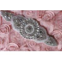 Motif Faux Pearl Rhinestone Crystal Wedding Dress Sash Applique
