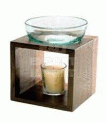 Quality Accessories - Homeware - Oil Burner - Wood and Glass for sale