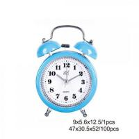 Blue Plastic Twin Bell Alarm Clock AM0009C