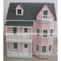 China Wooden Victorian Dolls House Miniatures Toys OEM on sale