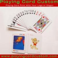 China Customized Casino Quality Playing Cards on sale
