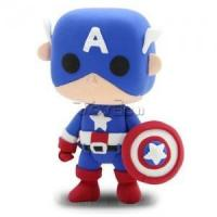 """China Marvel The Avengers 2"""" Captain America DIY Action Figure Clay Doll Model Kids Educational Toy on sale"""