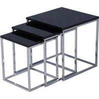 Buy cheap Charisma Nest of 3 Tables in Black Gloss. product