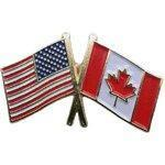 Buy cheap Cross Flag Pins Flag - USA-Canada from wholesalers