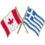 Buy cheap Cross Flag Pins Flag - Canada-Greece from wholesalers