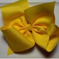China hair bows Large Yellow Hair Bow on sale