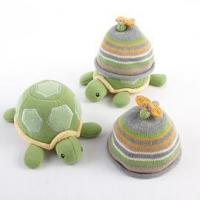 China gifts Baby Aspen Turtle Toppers Baby Hat and Turtle Plush Gift Set (Yellow) on sale