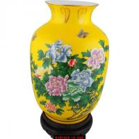 China China-yellow Flower vase wholesale