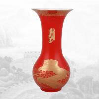 China-red Flower vase