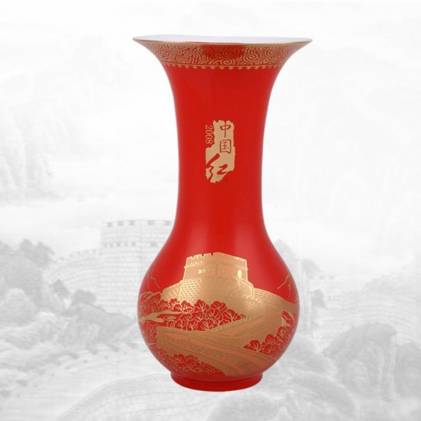 Quality China-red Flower vase for sale