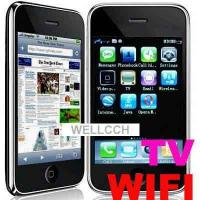 Buy cheap iphone F003First WI-FI with dual sim card dual standby TV free JAVA2.0 of iphone shape,4band from wholesalers