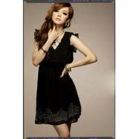 B5245##asia fashion wholesale Chiffon dress-black
