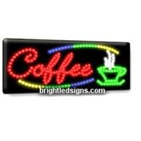 China Coffee Shop Business LED Sign on sale