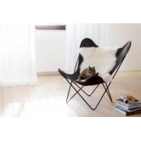 Classic Midcentury Design Leather Butterfly Chair