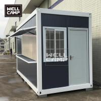 Buy cheap Wellcamp flat pack container coffee shop economical prefab food storage container from wholesalers