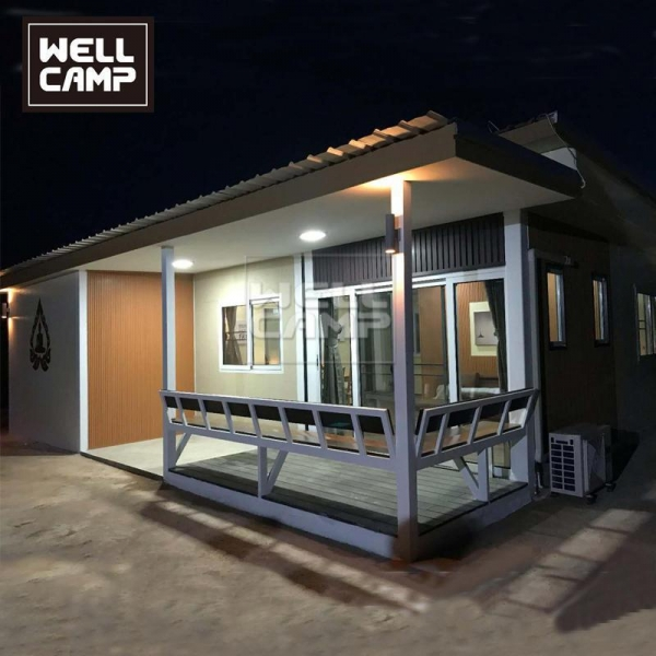 China Wellcamp fast install prefabricated detachable container villa holiday customized container