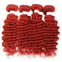 Buy cheap Vvwig Red Color 4 Bundles Deep Wave Bundles No Shed Double Weaving Weave Hair Soft And Easy To Style from wholesalers