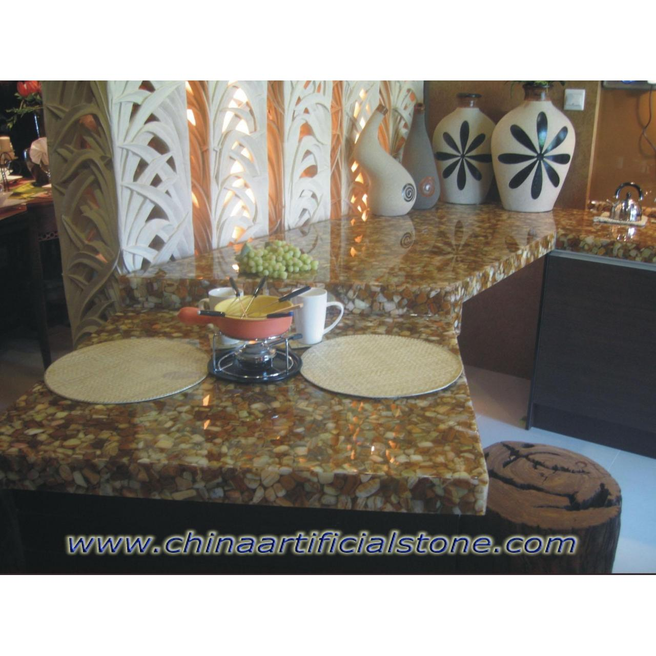 Buy cheap Resin River Pebble Stone Countertops product