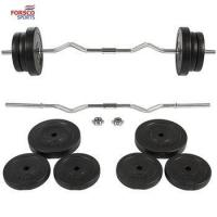 China Barbell Dumbbell EZ Curl Bar Weight Set Gym Lifting Exercise Workout on sale