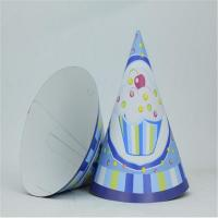 China Party Blue Ice cream Paper Hat on sale