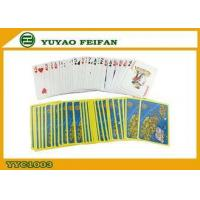 China Yellow Blue Personalized Poker Playing Cards Paper Playing Cards on sale