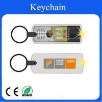 Buy cheap LED pvc wine bottle keychain can accept customized logo from wholesalers