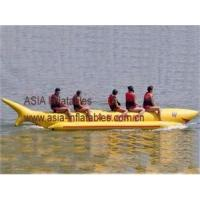 China Durable 6 Passengers Inflatable Shark Boat Water Towable Toys on sale
