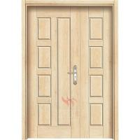 Wear-resisting pvc wood effect front doors hdf skin mdf pvc moulded door