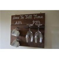 Buy cheap Wall Mounted Wine Glass Rack and Coffee Cup Hook Rack-9 product