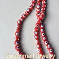 crystal accessory red evil eye beads