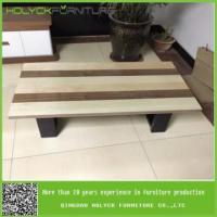 Buy cheap unique low wood and glass coffee tables for sale product