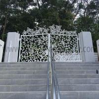 Wrought Iron Gates Hand forged beautiful iron gates designs with butterfly I-G-0001|LONGBON