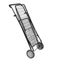 China Folding Shopping trolley cart with Swivel Wheels / Grocery Cart with High Adjustable Handle on sale